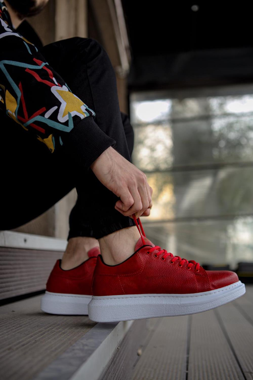 Knack Yüksek Taban Günlük Ayakkabı 044 Kırmızı