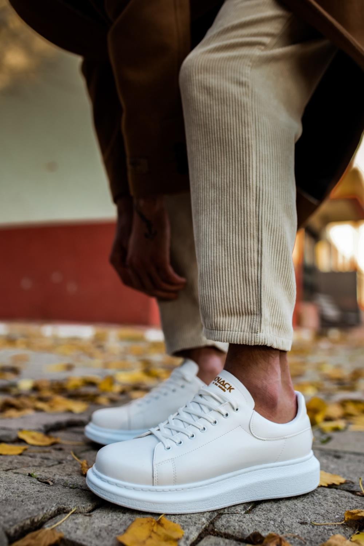Knack Yüksek Taban Günlük Ayakkabı 044 Beyaz